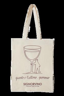Shopper in cotone grafica Signorvino