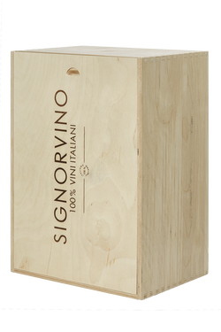 Cassetta in legno per 6 bottiglie